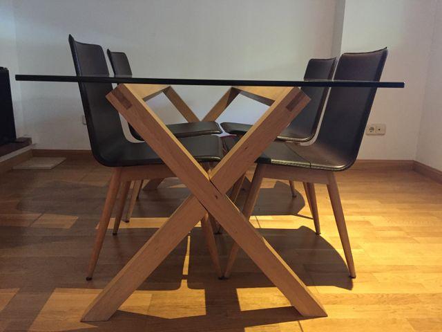 Mesa comedor + 4 sillas de segunda mano por 290 € en Majadahonda ...