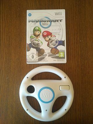 Mario Kart Wii + Volante Mando Wii