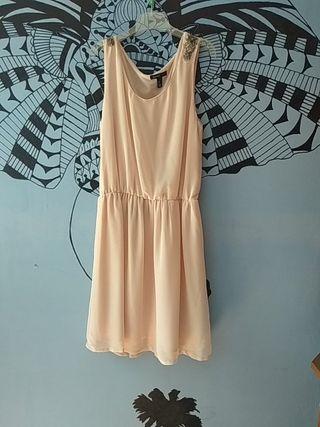 vestido rosa palo talla S