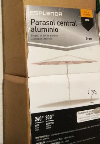 parasol central aluminio