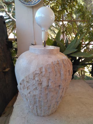 Lámpara piedra artificial