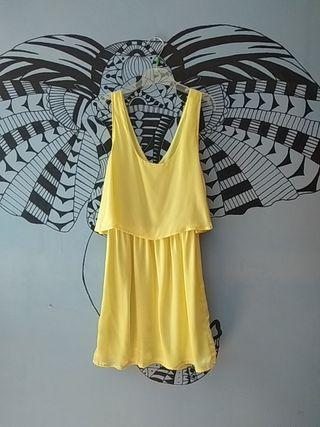 vestido amarillo talla S