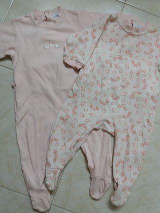 Dos pijamas body niña