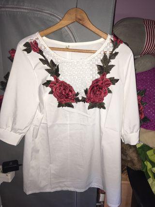 Camisa blanca talla L