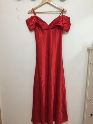 Vestido Fiesta rojo Largo
