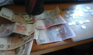 billetes y monedas de Rusia y Ucrania