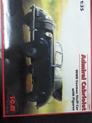 maqueta marqueteria coche Admiral cabriolet