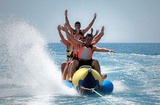 actividades en la playa,kayak,paddel surf,banana