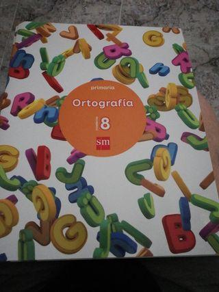 3 Cuadernos de ortografía para primaria.