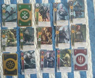 Coleccion 860 cartas witcher gwent gwynt + figura