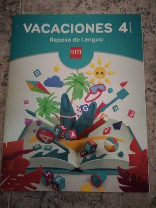 Libro de Repaso vacaciones 4°de primaria de lengua