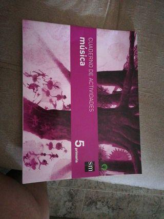 Cuaderno de actividades de música 5°primaria.