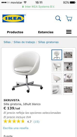 40 Segunda En De Tarrega Ikea € Mano Por Skrusvta Giratoria Silla ON0wvm8n