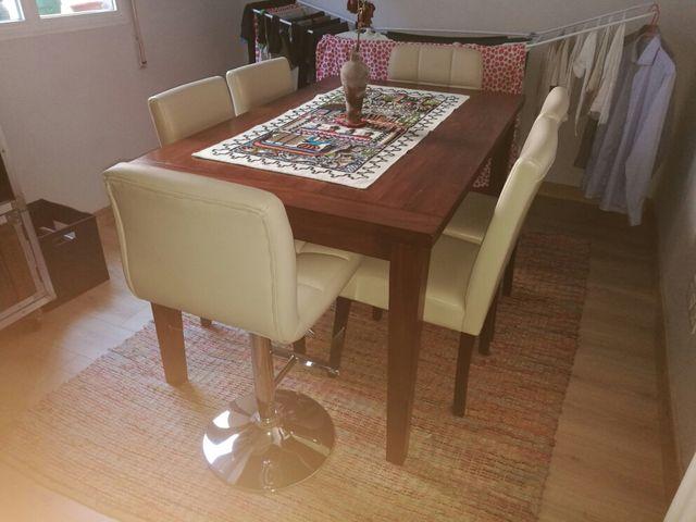 Mesa comedor madera extensible de segunda mano por 210 € en Madrid ...