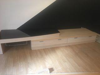 Mueble madera dos partes con cristal