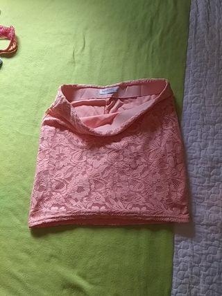 minifalda encaje suiteblanco