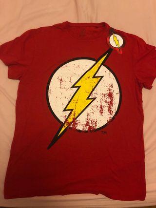 Camiseta flash DC, talla M