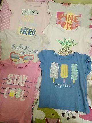 lote 5 camisetas t. 4-5 años