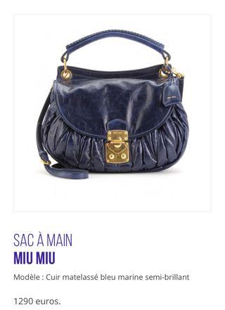 Bolso de piel Firma lujo Miu Miu-Prada. PVO 1.058€