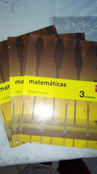 libros de lengua ,Mates,soci natu,3°Primaria,SM