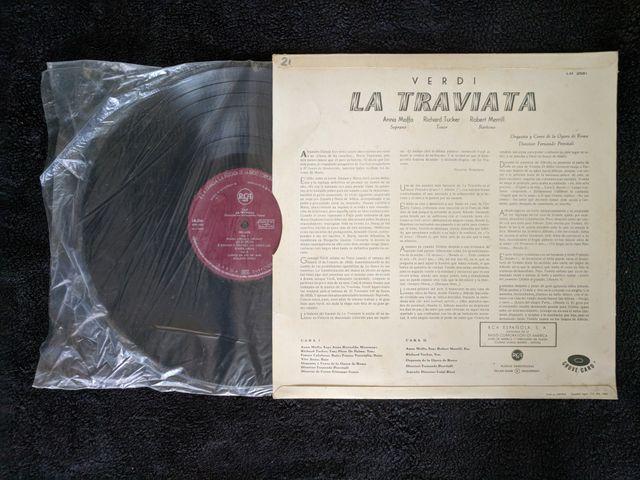 """Disco de vinilo """"La Traviata de Verdi"""""""