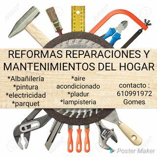 REFORMAS , REPARACIONES Y MANTENIMIENTOS DEL HOGAR