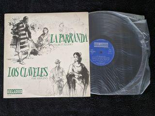 """Disco de vinilo """"Los claveles - La parranda"""""""