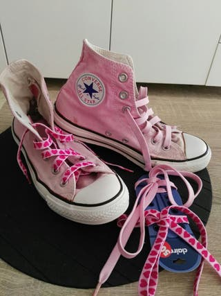 CONVERSE ZAPATILLAS ROSAS T-39 PERFECTO ESTADO