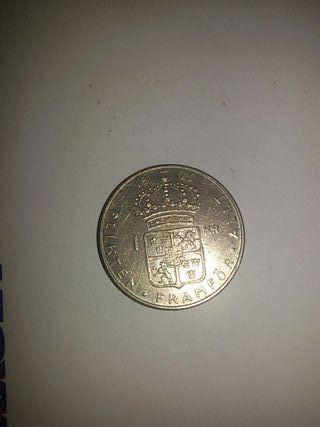 Moneda de 1 Corona Sueca de 1973 Numismatica