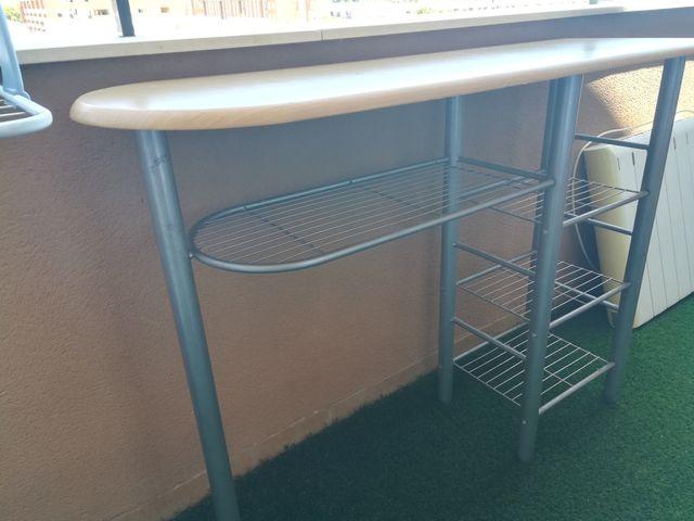 Mesa barra de cocina de segunda mano por 25 € en El Grao en WALLAPOP