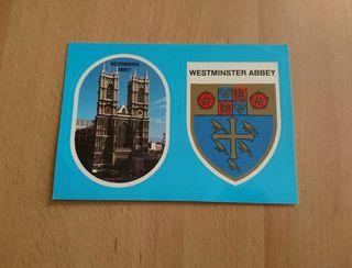 tarjeta postal con adhesivos