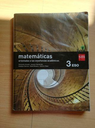 Libro de texto Matemáticas 3° de ESO