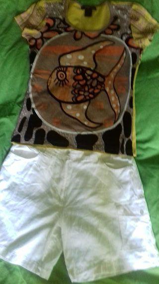 pantalon corto talla 38 niki tonos marron s/m