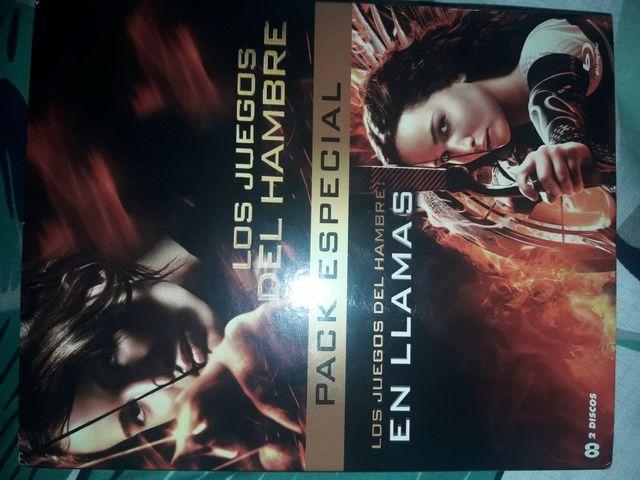 Pack Los Juegos Del Hambre 1 Y 2 En Blu Ray De Segunda Mano Por 12