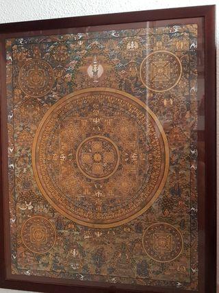 mandala cuadro tibet excelente estado