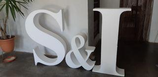 Letras porexpan I y S