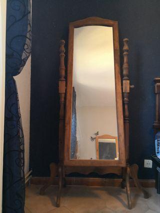 espejo de pie giratorio