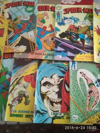 comic's de spiderman, los vengadores y la masa