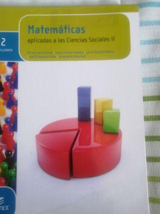 libro de matemáticas de 2 bachillerato