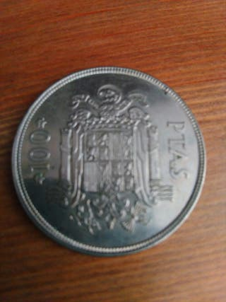moneda de 100 pesetas de plata