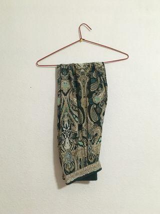 Pantalón baggy estampado verde