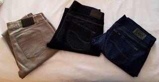 vaqueros pantalones LEE mujer