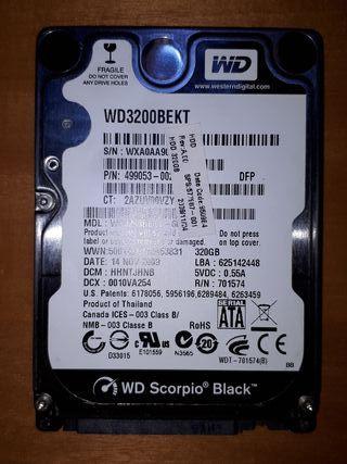 "Disco duro portátil 2.5"" SATA 320GB"