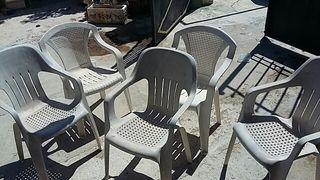 sillas plástico