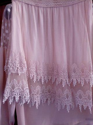 falda con puntilla talla m