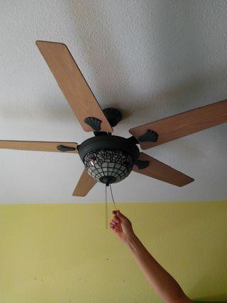 Ventilador de techo de segunda mano en valencia en wallapop - Lampara de techo con ventilador ...
