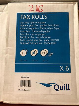 Rollos de fax cada caja