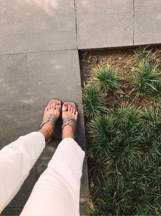 Sandalias piel Zara