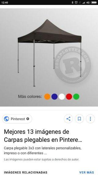 carpa plegable 3x3 nueva