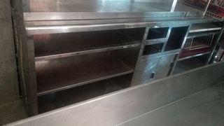 mueble cafetero contea barra mesas acero